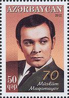 Azerbaïjan 2012 Mih. 944 Music. Singer Muslim Magomayev MNH ** - Azerbaïjan