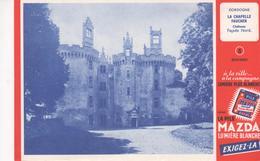 Buvard La Pile MAZDA Série Chateau N° 8 LA CHAPELLE FAUCHER - Accumulators