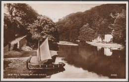 Old Mill Creek, River Dart, Devon, C.1940s - Valentine's RP Postcard - England
