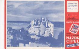 Buvard La Pile MAZDA Série Chateau N°20 MONTSOREAU - Piles