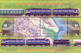 Azerbaïjan 2012 Mih. 964/65 (Bl.121) Baku-Tbilisi-Kars Railway (joint Issue Azerbaijan-Georgia) MNH ** - Azerbaïjan