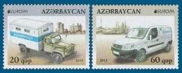 Azerbaïjan 2013 Mih. 973/74 Europa-Cept. The Postman Van. Automobiles MNH ** - Azerbaïjan