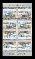 Azerbaïjan 2013 Mih. 973D/74D Europa-Cept. The Postman Van. Automobiles (booklet Sheet) MNH ** - Azerbaïjan