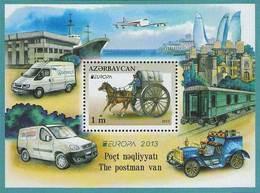 Azerbaïjan 2013 Mih. 975 (Bl.123) Europa-Cept. The Postman Van. Automobiles MNH ** - Azerbaïjan