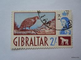 GRIBRALTAR 1960, Queen Elizabeth II, Bird, Barbary Partdrige, 2S. SG 170. Used. - Gibraltar