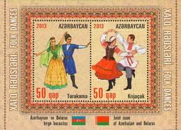 Azerbaïjan 2013 Mih. 986/87 (Bl.124) Folk Dances (joint Issue Belarus-Azerbaijan) MNH ** - Azerbaïjan
