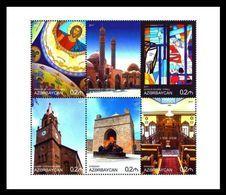 Azerbaïjan 2018 Mih. 1235/40 Religions Of The World. Church. Synagogue. Mosque. Religious Painting MNH ** - Azerbaïjan