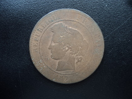 FRANCE : 10 CENTIMES  1877 K    F.135 / KM 815.2   B / B+ - Francia