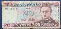 1993 LITHUANIA 20 LITU - Lithuania