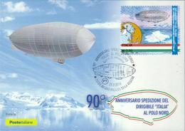 Italien '90 J. Norpolfahrt Luftschiff Italia' / Italy '90th Ann. Of North Pole Flight Of Airship Italia' MK/MC 2018 - Arctic Expeditions