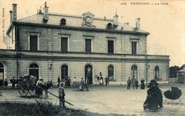 41 LOIR ET CHER - VENDOME La Gare, Traitée En Carte Photo (voir Descriptif) - Vendome
