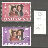 Bahamas, Année 1972, Jubilée Royal, N° Yvert = 332-3, Neufs ** - Bahamas (1973-...)