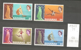 Bahamas, Année 1968, Sports, N° Yvert = 265-8, Neufs ** - Bahamas (1973-...)