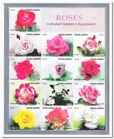 Bangladesh 2010, Postfris MNH, Flowers, Roses - Bangladesh