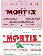 2 Buvards Mortis, Destruction Des Rongeurs Et Des Insectes. - Buvards, Protège-cahiers Illustrés