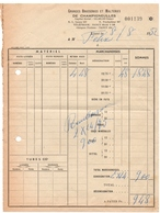 CHAMPIGNEULLES (54) FACTURE. 1952. GRANDES BRASSERIES Et MALTERIES De CHAMPIGNEULLES. - Alimentaire