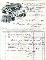 43.SAINT DIDIER LA SEAUVE.MANUFACTURE DE CARTONS & PAPIERS.THEODORE VERON. - Printing & Stationeries