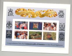 Dominica 1997 Queen Elizabeth Golden Wedding M/S Of 6 & 1v S/S Chromalin Proofs - Dominica (1978-...)