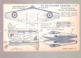 Supplément à Marabout Junior N°37 - Maquette - Avions Divers N°4 - DE HAVILLAND VAMPIRE T 11 - Marabout Junior