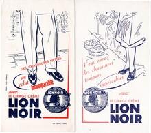 2 Buvards Cirage Lion Noir, Chaussures Nettes Et Impeccables. - Wash & Clean