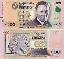 URUGUAY      100 Pesos Urug.    P-95       2015 (2018)       UNC - Uruguay