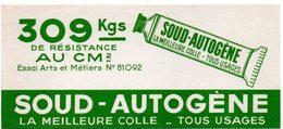 Buvard Colle Soud-autogène, Colle Tous Usages. - Vloeipapier