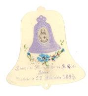 Cloche En Celluloïd, Baptême , 1895 - Images Religieuses