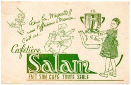 Buvard Cafetière Salam, Fait Son Café Toute Seule. - Café & Thé