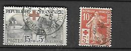 France  1914 - 1918   Croix - Rouge   CAT YT    N°  147 - 156   Obli - Französich-Somaliküste (1894-1967)
