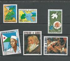 DJIBOUTI Scott 457-458, 470, C113-C114, C123 Yvert 458-459, 476, PA119-PA120, PA129 (6) ** Cote 12,00 $ 1977-8 - Djibouti (1977-...)