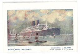 COLOMBO - MESSAGERIES MARITIMES - PLONGEURS À COLOMBO - Sri Lanka (Ceylon)