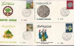 MAROC Année 1978 - LOT De 4 ENVELOPPES PREMIER JOUR FDC - Morocco (1956-...)