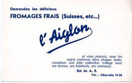 Buvard Fromages Frais L'aiglon. - Leche