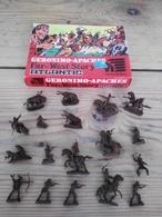 Figurines  / ATLANTIC 1003 / GERONIMO-APACHES Far-West Story / SCALA HO / 24 PIECES + Boîte D'origine - Années 70 - Figurines