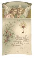 Image Pieuse, Anges Du Ciel, Première Communion, M. Long, Ollioules - Images Religieuses