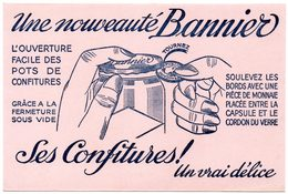 Buvard Confitures Bannier, Un Vrai Délice. - Buvards, Protège-cahiers Illustrés