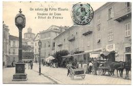 ITALIE . Liguria . PORTO MAURIZIO . Statione Dei Tram E Hotel De France . - Italy