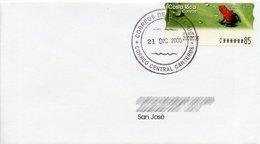 COSTA RICA (2005) - ATM Rana Roja Venenosa / Poison Dart Frog / Dendrobates Granuliferus - Sobre / Cover - Costa Rica