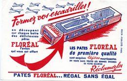 Buvard Pâtes Floréal, Avion à Découper Sur La Boite. - Food