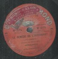 """78 Tours - DELORMEL  - DIAMOND 1275  """" LE REMEDE DE L'AUVERGNAT """" + """" MARIUS A PARIS """" - 78 T - Disques Pour Gramophone"""