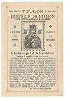 Dépliant : Toulon, Souvenir De Mission Des Pères Rédemptoristes, 1893 - Vieux Papiers