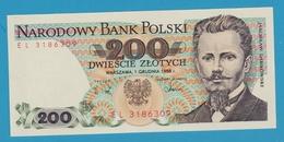 POLAND 200 ZLOTY 01/12/1988 Serial# EL3186309 P# 144c - Polonia