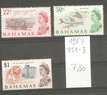 Bahamas, Année 1967, Emmission Courante (série Non Complète) - Bahamas (1973-...)