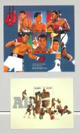 Zambia 1998 Muhammad Ali, Boxing 1v.m/s Of 6 + 1v. S/s Unissued Chromalin Essays - Zambia (1965-...)