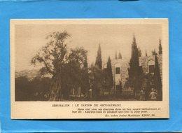 PALESTINE-JERUSALEM-jardinde Gethsémané-années 1910-20-édition Pélerinage Protestant - Palestine