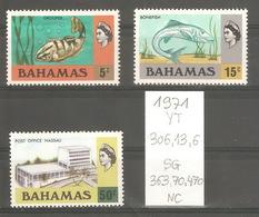 Bahamas, Année 1971, Faune (série Non Complète) - Bahamas (1973-...)