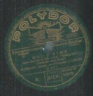 """78 Tours - FLORELLE  - POLYDOR 522173  """" QUI J'AIME """" + """" ESCALES """" - 78 T - Disques Pour Gramophone"""