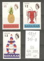 Bahamas, Année 1971, Symboles (série Non Complète) - Bahamas (1973-...)