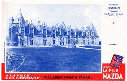 Buvard Piles Mazda, Chateau De Chaumont De Josselin N°6 - Piles