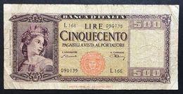 500 Lire Italia 10 02 1948 Mb LOTTO 574 - [ 2] 1946-… : Républic